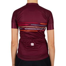 Sportful Vélodrome Short Sleeve Jersey Women, rojo